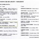 Programma concerto 9 Dicembre 2011 Bologna