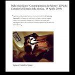 """Dalla recensione al concerto """"Donne Du du du"""", tenuto da Agnese Toniutti al Salotto musicale FVG"""