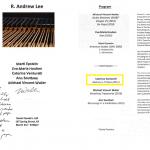 Daniel Goode's Loft, programma del concerto di Andrew Lee